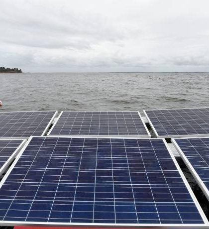 centrale solaire flottante, France, Akuo Energy